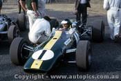 66587 - Jim Clark Lotus 39 Climax -  Tasman Series  Warwick Farm 1966 - Photographer Adrien Schagen