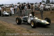 66589 - Jim Palmer Lotus 32B Climax -  Tasman Series  Warwick Farm 1966 - Photographer Adrien Schagen