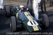 66591 - Jim Palmer Lotus 32B Climax - Tasman Series  Warwick Farm 1966 - Photographer Adrien Schagen
