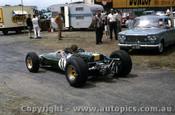 66592 - Jim Palmer Lotus 32B Climax - Tasman Series  Warwick Farm 1966 - Photographer Adrien Schagen