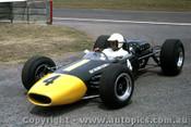 66598 - Frank Gardner Repco Brabham Climax - Tasman Series  Warwick Farm 1966 - Photographer Adrien Schagen