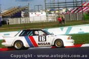 83793 - Fred Gibson / John French Nissan Bluebird Turbo  -  Bathurst 1983 - Photographer Lance J Ruting