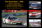 626 - The Great Race 1995 - A collage of the first three place getters from  Bathurst 1995 with winners time and laps completed.