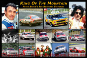 Peter Brock - King of the Mountain  -  A collection of 14 images of his ten Bathurst victories
