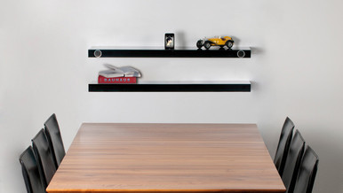 Hohrizontal 51 Soundboard. The minimalist music shelf for Ipods,ipads and other smart devices