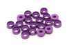 Aluminium Countersunk Finishing Washer for M3 Screws 20pcs Purple