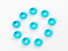 Aluminium Countersunk Finishing Washer for M3 Screws 20pcs - SKY BLUE