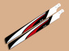 SAB Red White Black 525mm FBL 3D Main Blade - GAUI X5 / Goblin 500