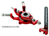 MICROHELI Titanium Swashplate w/ Anti-Rotation Guide combo (RED) - BLADE 130X