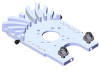 LYNX Cooling Motor Mount - Silver Edition  - GOBLIN 500