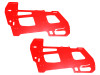 LYNX Ultra Main Frame Set G10 2mm (2pcs) RED - GOBLIN 500