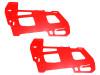 LYNX Ultra Main Frame Set G10 2mm (2pcs) RED - GOBLIN 500