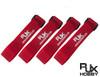 RJX Battery Straps 400X20mm 4pcs - RED
