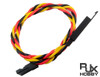 RJX 22AWG x 30cm JR Twisted Extension Leads with Security Hook on Female