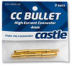 CASTLE CREATIONS 4mm High Current Motor Bullet Connector pack (3-pair)