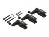 OXY - QUBE PRO Edition Main Blade Grip 3pc Set - Black - OXY 3 Qube
