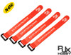 RJX Non-Slip Silicone backed Velcro Battery Straps Orange (300 X20mm 4pcs)