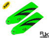 RJX Vector Green 110mm Carbon Fiber Tail Blades