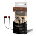 "Maxell ""Timbers"" Digital Wooden Ear Buds - Mahogany Finish"