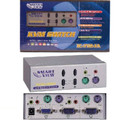 2 Port KVM Switch with Audio - Metal (PS/2) - Smart View<BR>(Includes 2 sets of 3-in-1 KVM cables & 2 audio cables)