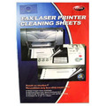 "Fax/Laser Printer Cleaning Sheets - 12 sheets - 8 1/2"" x 11"""