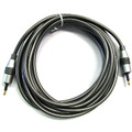 3' 3.5mm Mini Toslink Cable (Male/Male) with Metal Connections -  - <b>12' model shown</b>