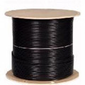 1000' RG6/U Quad Shielded Cable - 18AWG - Outdoor - Black