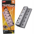 Belkin/Staples Block Adapter Surge Protector<BR>10 Outlets, EMI/RFI + Phone & Coax Protection