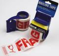 Fragile Tape w/ Dispenser - 48mm x 20yds