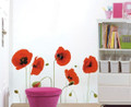 Red Flowers Wall Decals