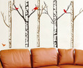 Trees Birds Wall Decals