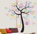 Trees Owls Wall Decals