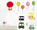 Cars, Pigs, Helicopter, Boloons Wall Decals