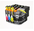 Brother LC209BK LC205CMY New Compatible Ink Cartridges (Super High Yield) (1set of 4)