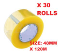 Clear Packing Tape - 48mm x 120 m -30 Rolls/ Case