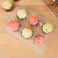 6 Compartment Clear Cupcake / Muffin Takeout Container - 50/Pack