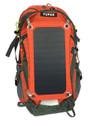 YUPAK Solar Powered Orange Backpack with  7Watts Solar Panel & 10000 mAh Power Bank