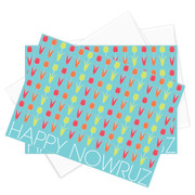 Happy Nowruz Tulips Stationery - Set of 10