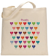 Personalized W Armenian Hearts Tote Bag
