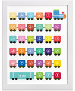 Personalized Persian Alphabet Train Art Print