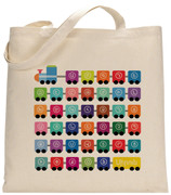 Personalized W Armenian Train Tote Bag