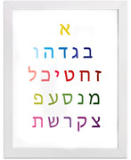 Hebrew Alphabet  Art Print