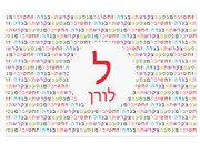 Personalized Hebrew Alphabet Placemat