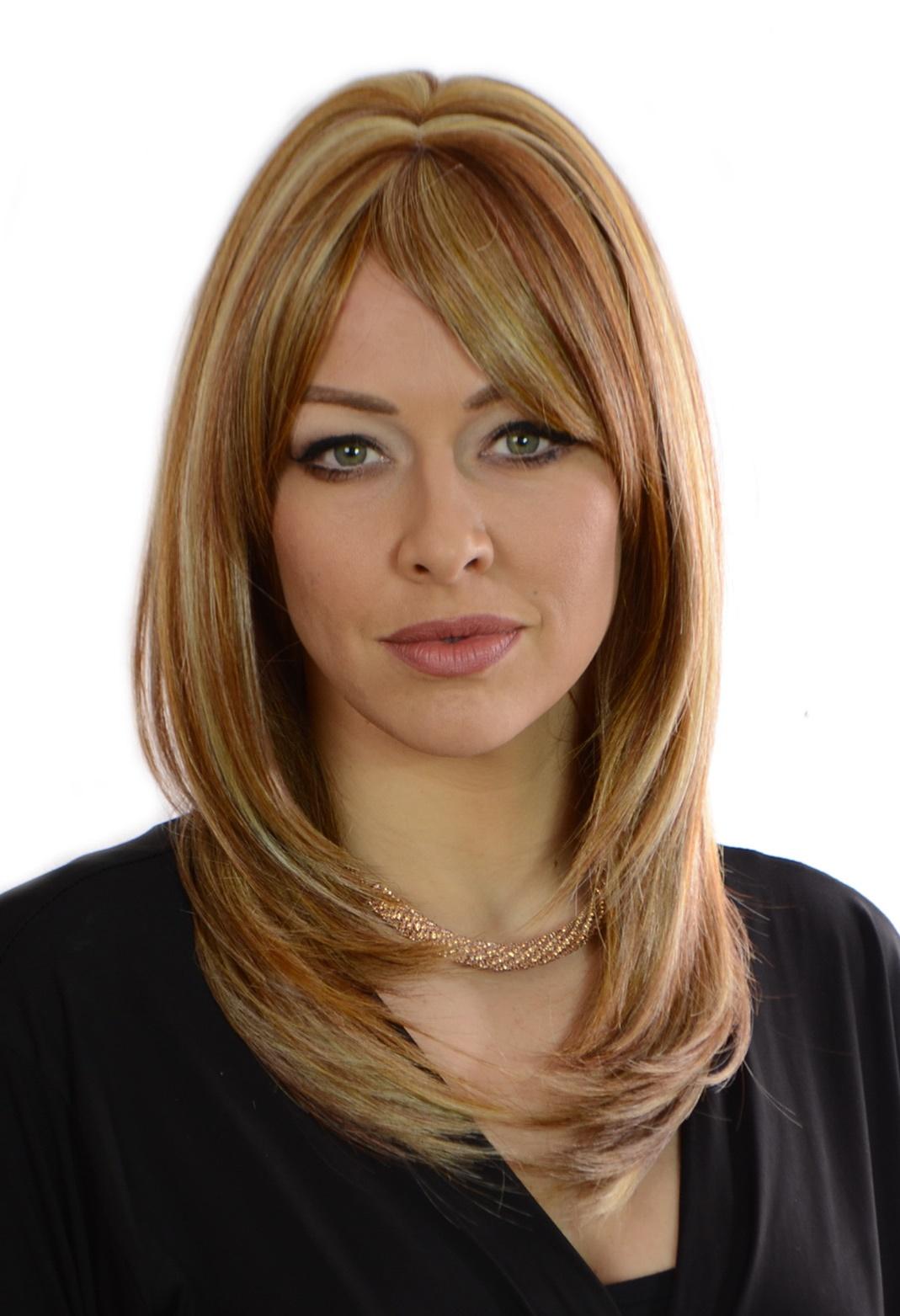 Natural Redhead with Bangs Wig
