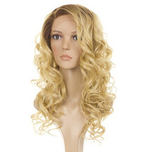 Holly Rooted Apricot Blonde Human Hair Blend Lace Front Wig