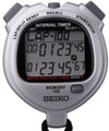 SEIKO S057 100-Lap Stopwatch w/ Dual Countdown Timers for Interval Training