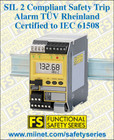 Safety Trip Alarm SIL 2 & 3 Compliant