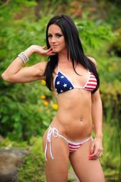 American flag tie side
