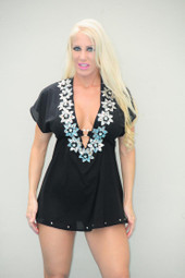 Black and Silver Cover-up Dress