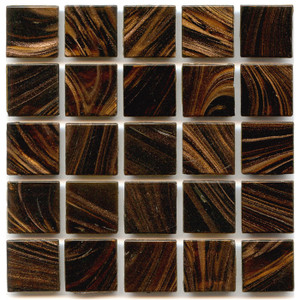 Henna 0.75 x 0.75 Glass Mosaic Tile